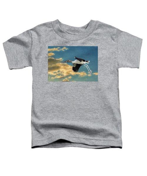 Stork Bringing Nesting Material Toddler T-Shirt