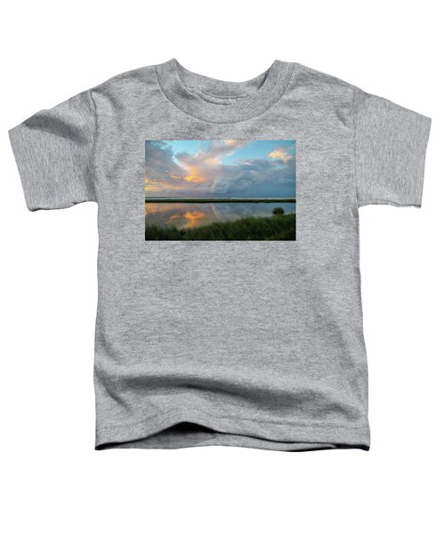 Storm Cloud Reflections At Sunset Toddler T-Shirt