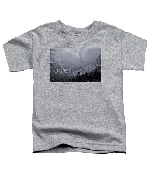 Storm Over Yosemite Toddler T-Shirt