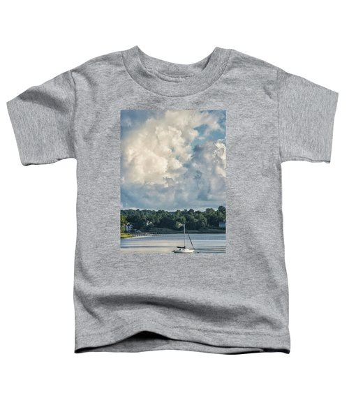 Stormy Sunday Morning On The Navesink River Toddler T-Shirt