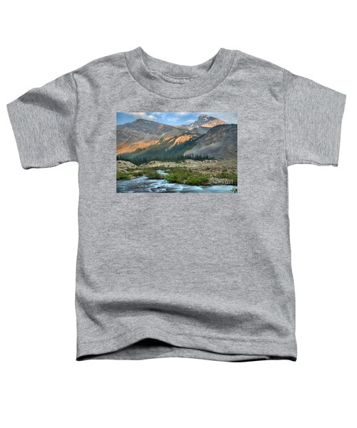Streaming Down From Bow Glacier Toddler T-Shirt
