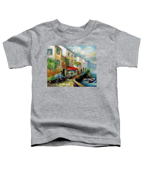 Street In Italy By The Sea Toddler T-Shirt