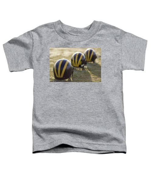 Striped Helmets On A Yard Line Toddler T-Shirt