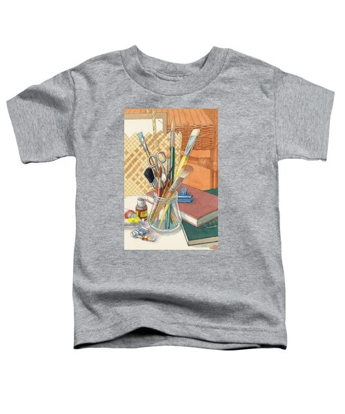 Toddler T-Shirt featuring the painting Studio by Judith Kunzle