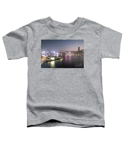 Stunning View Of The Twilight Over The Victoria Harbor And Star  Toddler T-Shirt