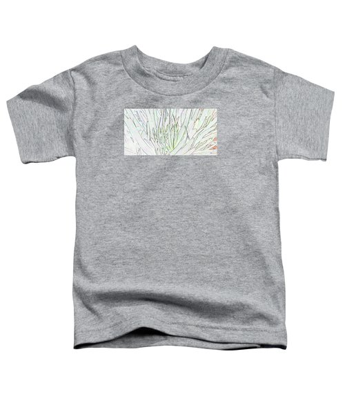 Succulent Leaves In High Key Toddler T-Shirt by Nareeta Martin