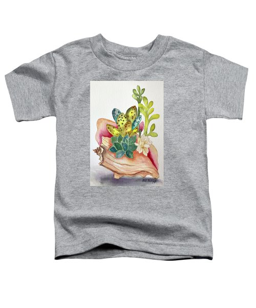 Succulents In Shell Toddler T-Shirt