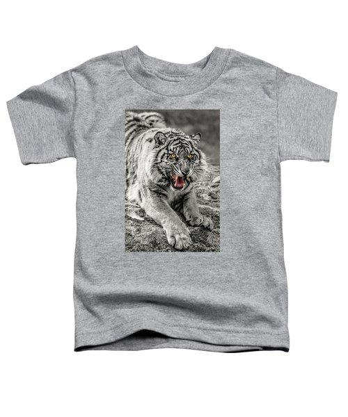 Sumatran Tiger Bw W With Selective Color Toddler T-Shirt