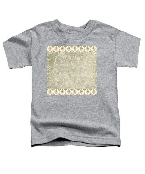 Summer At The Cottage - Vintage Style Damask Rose Border Toddler T-Shirt