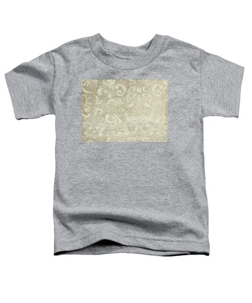 Summer At The Cottage - Vintage Style Wooden Scroll Flourishes Toddler T-Shirt