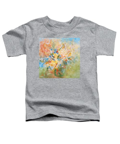 Toddler T-Shirt featuring the painting Summer Blooms by Joanne Smoley