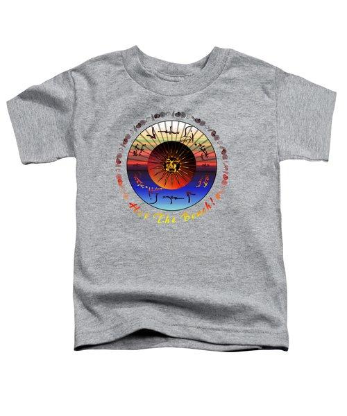 Sun Face Stylized Toddler T-Shirt