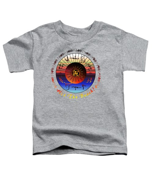 Sun Face Stylized Toddler T-Shirt