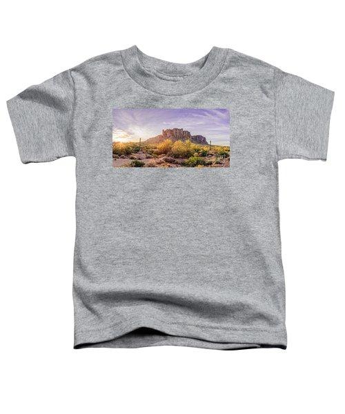 Sun Peaking At Lost Dutchman State Park - Apache Junction Arizona Toddler T-Shirt