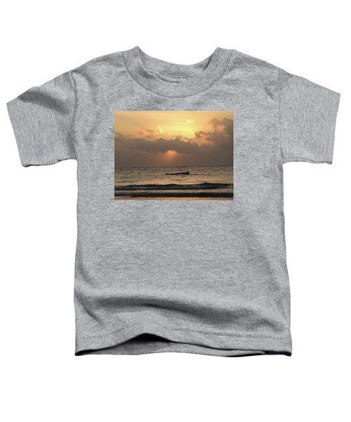 Sun Rays On The Water With Wooden Dhows Toddler T-Shirt