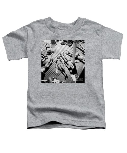 Sun Tanning At The Deligny Swimming Pool, Paris, June, 1963 Toddler T-Shirt