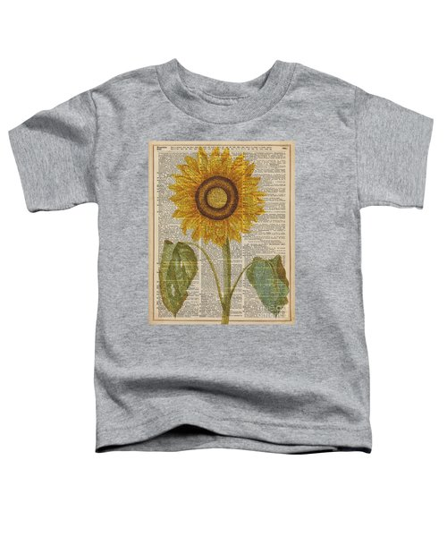 Sunflower Over Dictionary Page Toddler T-Shirt