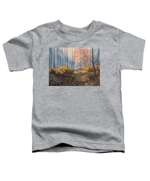 Sunlight And Sheep In Sledmere Woods Toddler T-Shirt