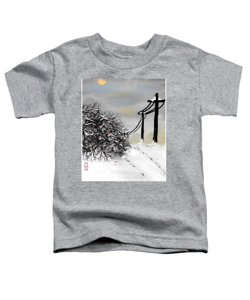 Toddler T-Shirt featuring the digital art Sunny 28 Below by Gerry Morgan