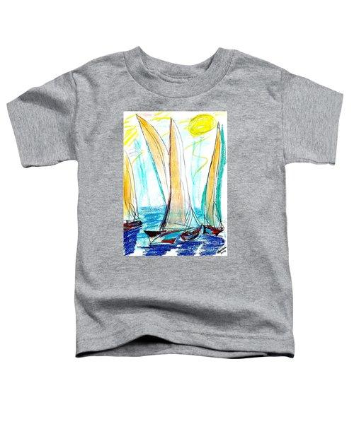Sunny Day Sailing Toddler T-Shirt