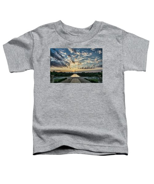 Sunrise From The Steps Of The Lincoln Memorial In Washington, Dc  Toddler T-Shirt