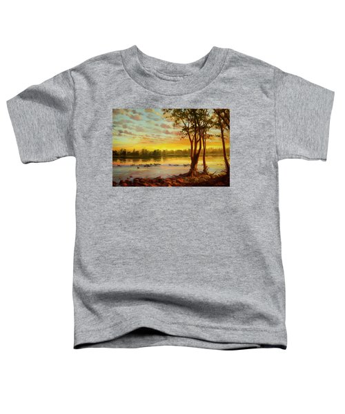 Sunrise On The Columbia Toddler T-Shirt