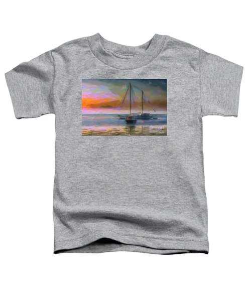 Sunrise With Boats Toddler T-Shirt