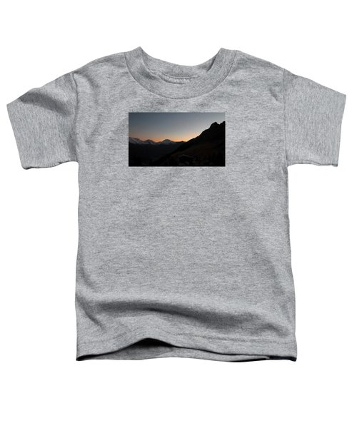 Sunset Afterglow In The Mountains Toddler T-Shirt
