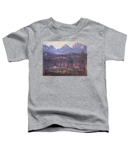 Sunset At Dolomites Belluno Toddler T-Shirt