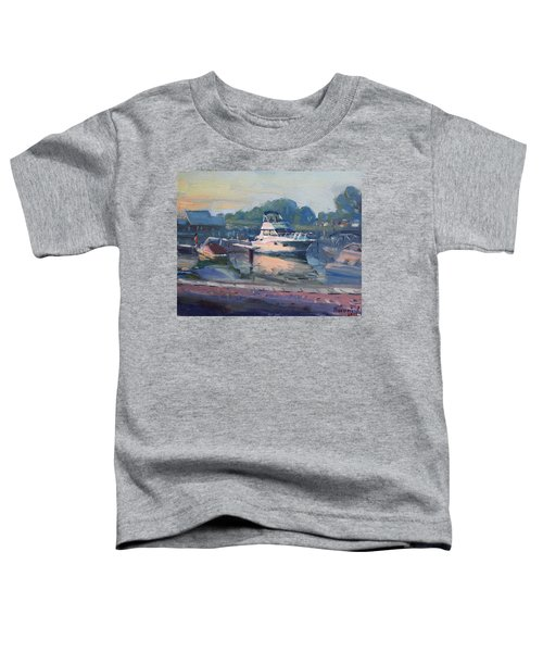 Sunset At Kellys And Jassons Boat Toddler T-Shirt