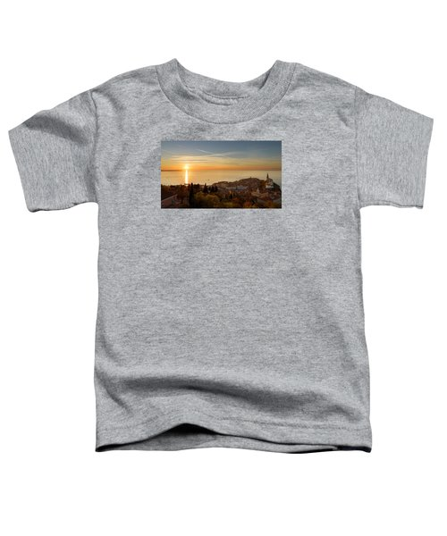 Sunset At Piran Toddler T-Shirt