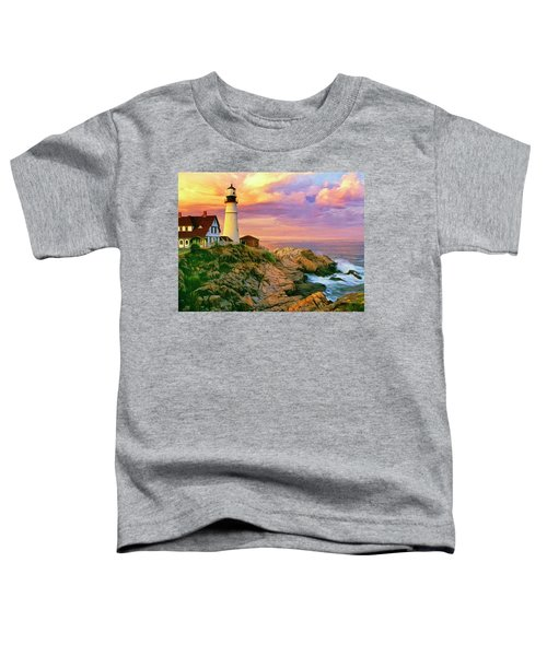 Sunset At Portland Head Toddler T-Shirt