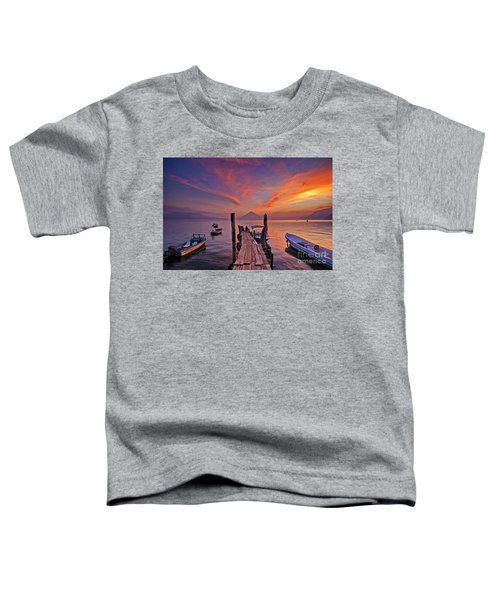 Sunset At The Panajachel Pier On Lake Atitlan, Guatemala Toddler T-Shirt