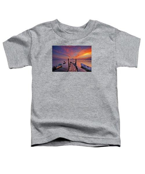 Sunset At The Panajachel Pier On Lake Atitlan, Guatemala Toddler T-Shirt