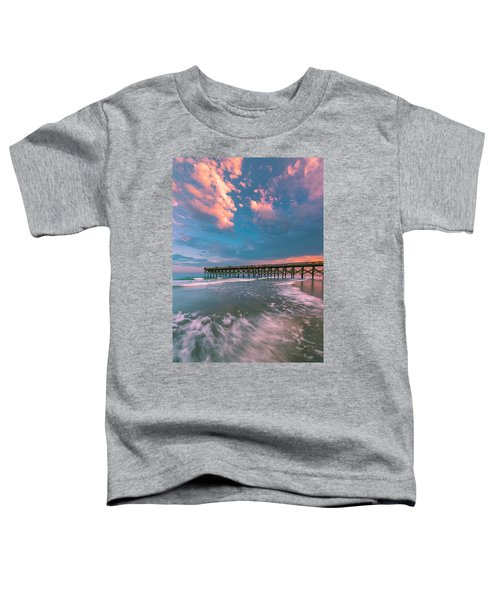 Sunset At Wilmington Crystal Pier In North Carolina Toddler T-Shirt