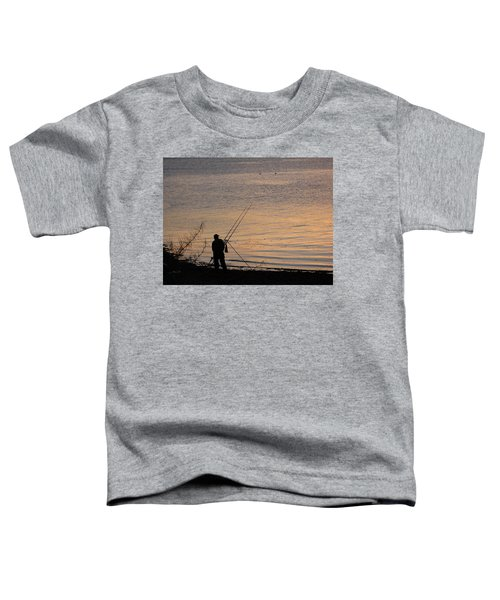 Sunset Fishing On The Loch Toddler T-Shirt
