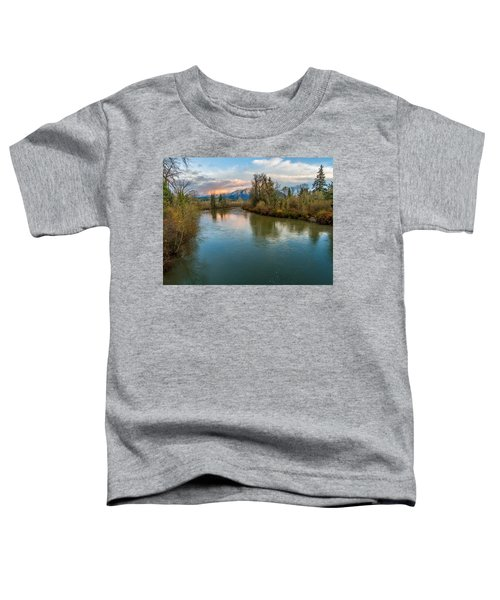 Sunset Glow Over The Snoqualmie River Toddler T-Shirt