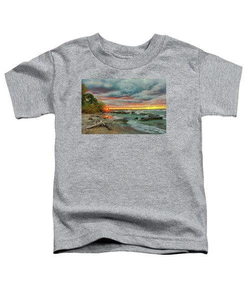 Sunset In Rocky River, Ohio Toddler T-Shirt