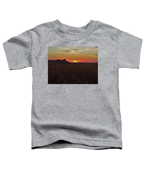 Sunset In The Badlands Toddler T-Shirt