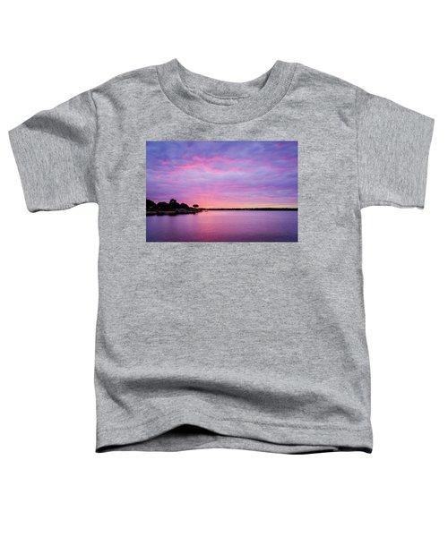 Sunset Lake Arlington Texas Toddler T-Shirt