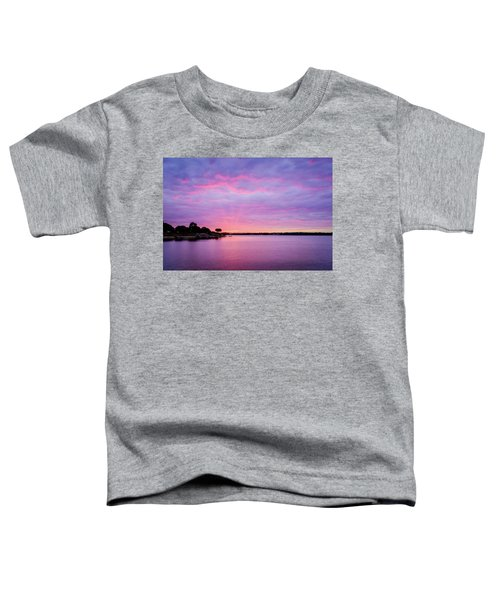 Sunset Lake Arlington Texas Toddler T-Shirt
