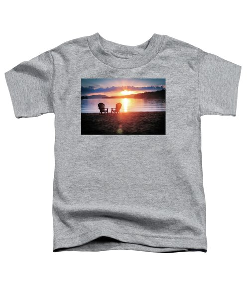 Sunset On Fourth Lake Toddler T-Shirt