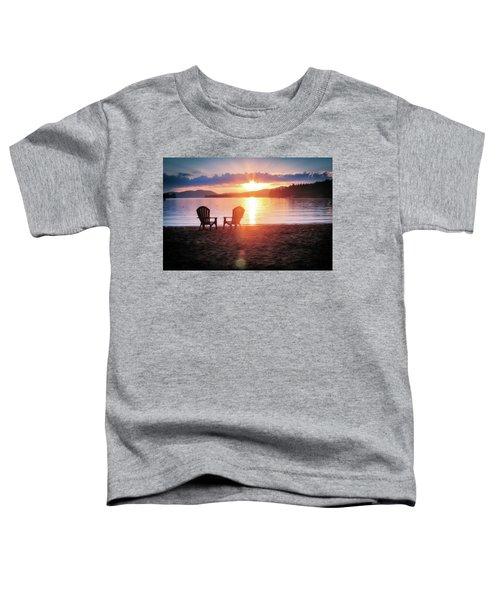 Sunset On Fourth Lake Toddler T-Shirt