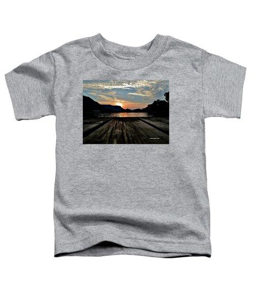 Sunset On The Dock Toddler T-Shirt