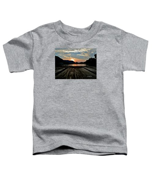 Sunset On The Dock Toddler T-Shirt