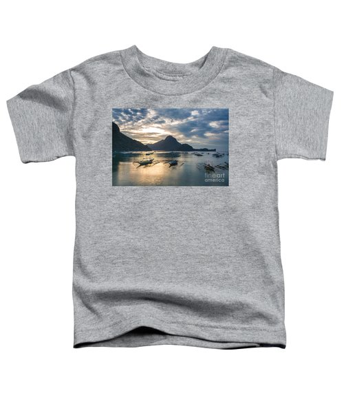 Sunset Over El Nido Bay In Palawan, Philippines Toddler T-Shirt