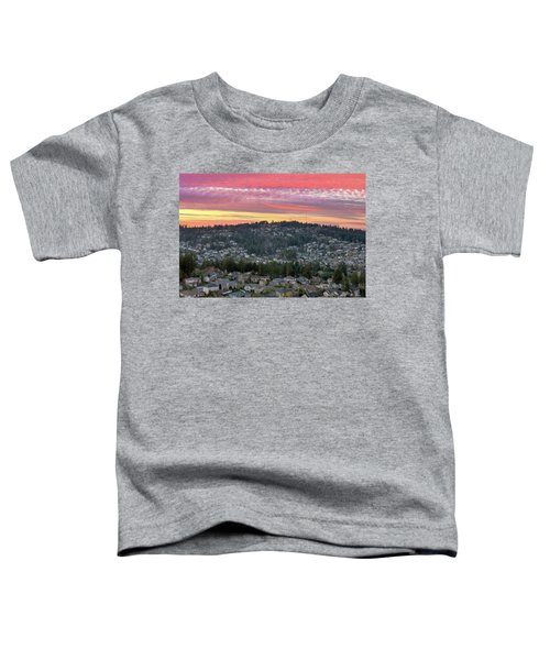 Sunset Over Happy Valley Residential Neighborhood Toddler T-Shirt