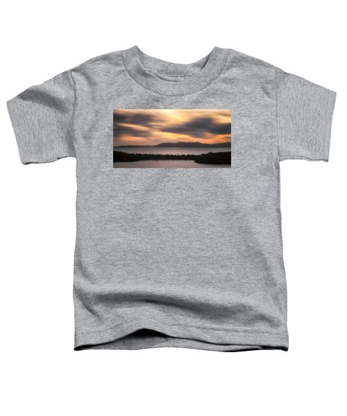 Toddler T-Shirt featuring the photograph Sunset Over St. John And St. Thomas Panoramic by Adam Romanowicz