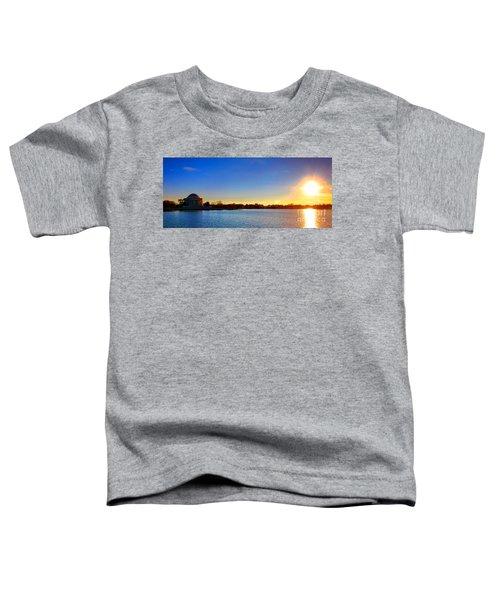 Sunset Over The Jefferson Memorial  Toddler T-Shirt