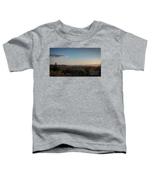 Sunset Over Top Of Dense Forest Toddler T-Shirt
